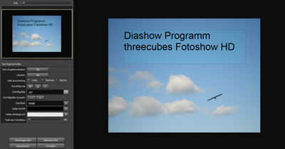 Diashow Programm mit Text Editor